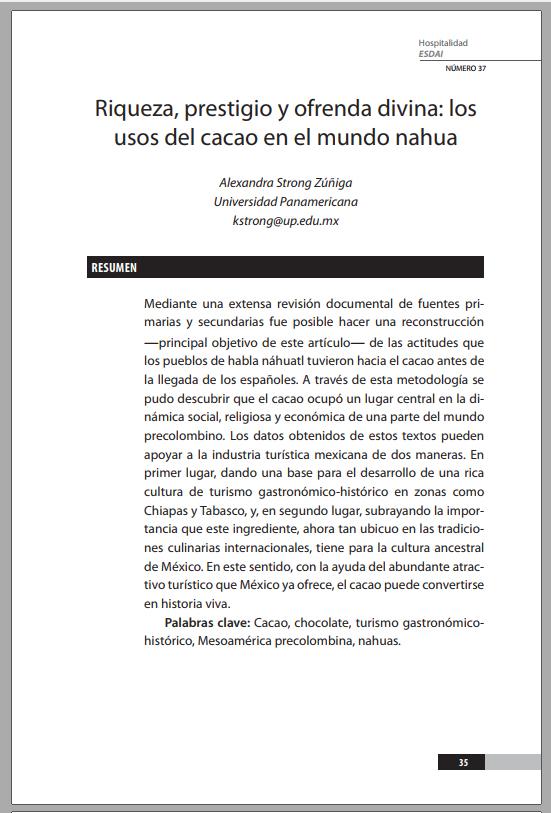 37_2 Riqueza, prestigio y ofrenda divina : los usos del cacao en el mundo nahua