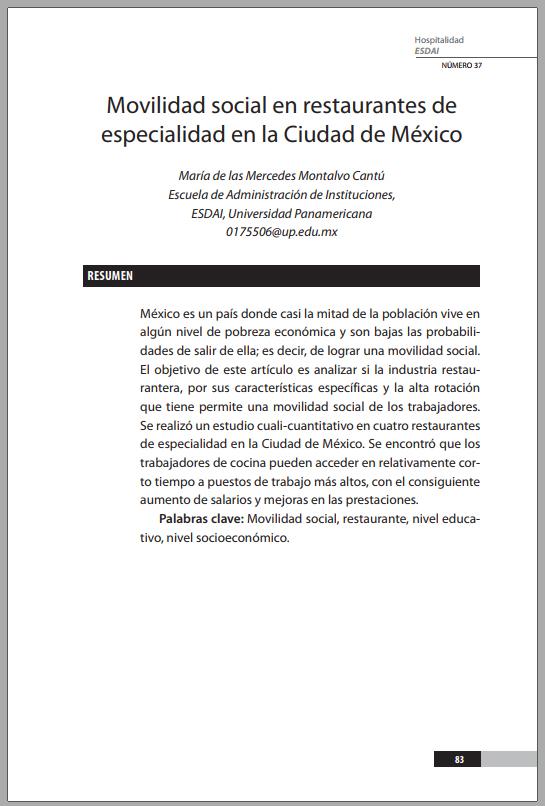 37_4 Movilidad social en restaurantes de especialidad en la Ciudad de México