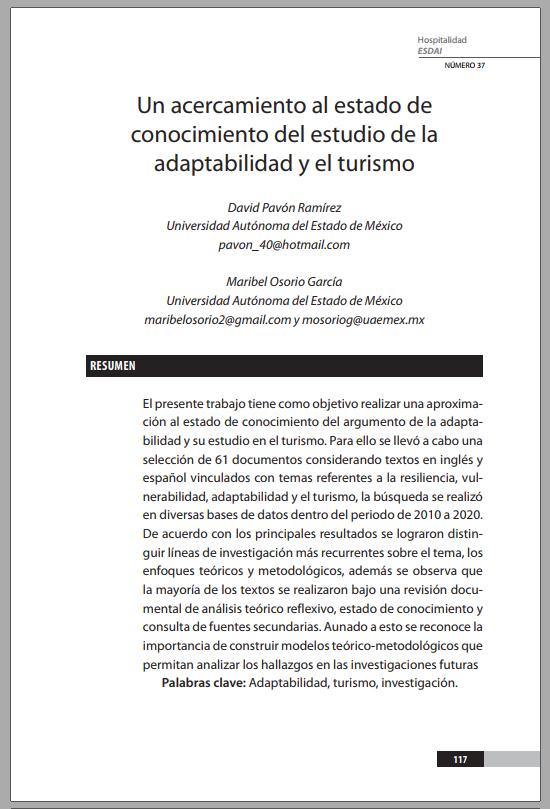 37_5 Un acercamiento al estado de conocimiento del estudio de la adaptabilidad y el turismo