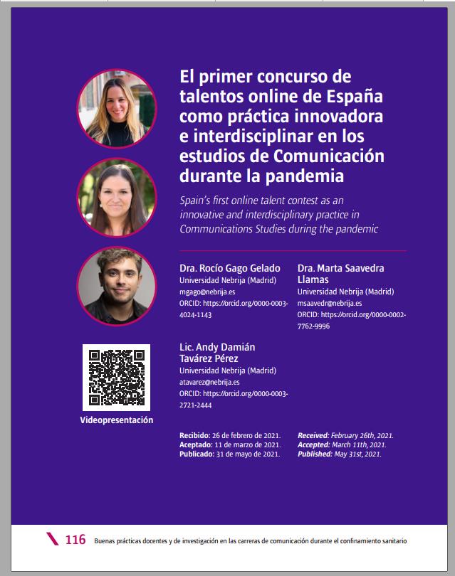 primer concurso de talentos online de España